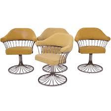 platner furniture. Viyet - Designer Furniture Seating Vintage Platner Style Upholstered Chrome Dining Chairs A