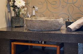 bathroom stone vessel sinks. dino stone vessel by pleasing bathroom sinks