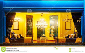 Show Window Lighting Front Luxury Lighting Furniture Shop Window Decoration Stock