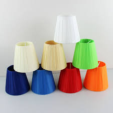 fascinating small chandelier shades many beautiful and bright colors with pleated fabric material