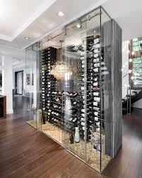 wine cellar glass wine cellar contemporary with bubble pendant chandelier crystal shade