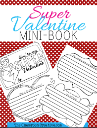 superhero valentine s day mini book via tpt bee my valentine freebie pack from today in second grade
