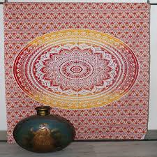 orange ombre mandala wall hanging art tapestry size 54 x 85 in inch approx cotton indian wall decor hippie tapestries bohemian mandala tapestry wall hanging