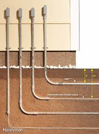 electrical wiring how to run power anywhere the family handyman metal conduit means less digging