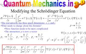 modifying the schrödinger equation