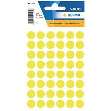 Label Herma Multi Purpose Small Pack Dots 12mm Neon Yellow 1854 Halim Online