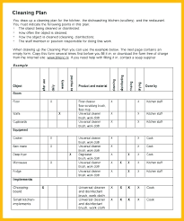 Examples Of Cleaning Schedules Cleaning Schedule Template For Restaurant House List