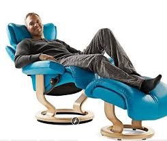 Unique and Comfortable Seating Design for Home Interior Furniture,  Stressless Seating by Ekornes  Blue