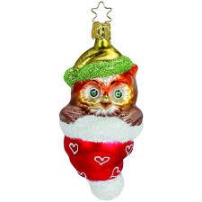 Eulchen Inge Glas Weihnachtsschmuck 11cm