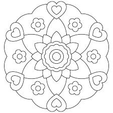 Mandala Da Colorare Per Bambini Foto 1240 Pourfemme Pictures
