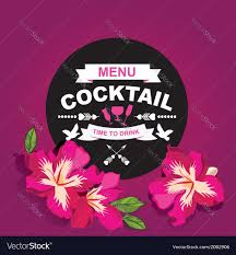 Cocktail Bar Menu Template Design Royalty Free Vector Image