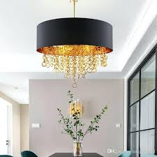 drum shade ceiling light modern chandeliers with black drum shade pendant light gold rings drops in drum shade