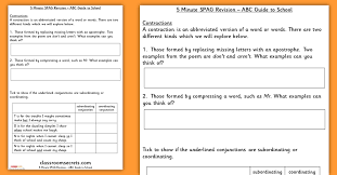 5 Minute SPAG Revision Year 2 ABC Guide to School | Classroom Secrets