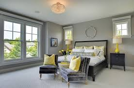 elegant gray and yellow bedrooms