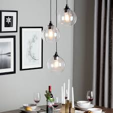 pendant lighting ideas. illuminate your contemporary dining room or entryway with this transparent threelight globe cluster pendant by uptown glass light lighting ideas o
