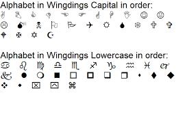 Wingding Alphabet 2019