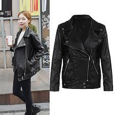clothes winter warm women short coat leather jacket parka tops overcoat outwear black