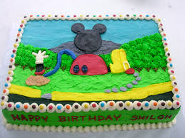 8 Mickey Mouse Clubhouse Buttercream Cakes Photo Mickey Mouse