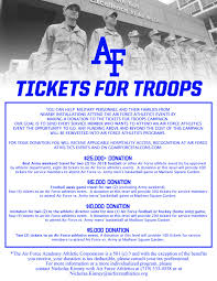 Air Force Academy Football Seating Chart Tickets For Troops