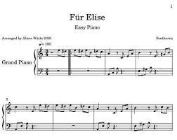 Virtual sheet music this item includes: Fur Elise Piano Etsy