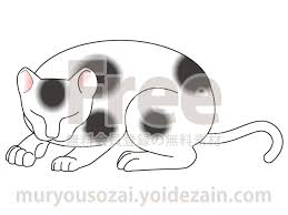 日光東照宮眠り猫のイラスト 無料イラストかわいいフリー素材