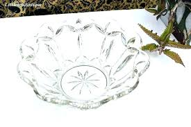 extra large clear glass serving bowls bowlbig china vintage heavy crystal servin