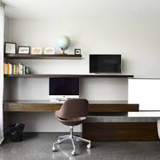home office modern. Exellent Home Inspiration For A Modern Builtin Desk Concrete Floor Study Room Remodel In  Melbourne With For Home Office Modern S