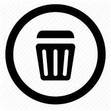 Bin Delete Empty Garbage Junk Remove Trash Icon