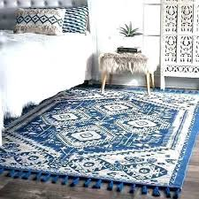 wool rug the curated nomad diamond dragon cotton blue tassel area 6 x 9 wayfair rugs