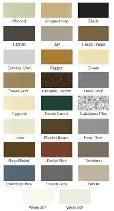 Shingle Colors Membrane Colors Deck Waterproofing Gutter