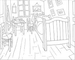 Small Picture Colouring Page The Bedroom Van Gogh Museum
