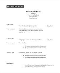Blank Resume Template Printable Stunning Free Printable Blank Resume Template Swarnimabharathorg