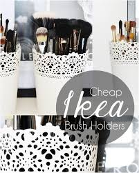 ikea skurar plant pots as makeup brush holders