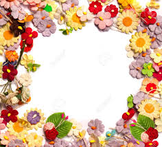 Paper Flower Frame Colorful Of Handicraft Paper Flower Frame Stock Photo Picture And