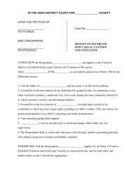 Custody Agreement Template 10 Custody Agreement Template 1mundoreal