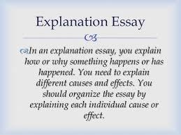 kind of essays explanation essay 12  example