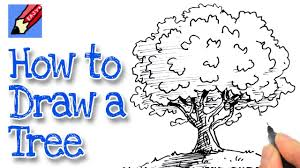 how to draw a tree real easy