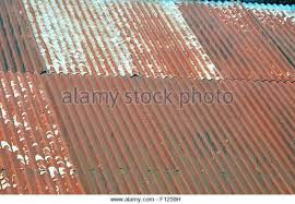 rusted corrugated metal sheets rusty iron roof stock photos roofing