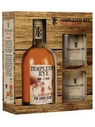 templeton rye whiskey gift set 750ml