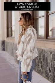 a step by step tutorial to make a fur coat