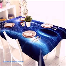 3d tablecloth merry starry sky space wolf pattern washable cloth thicken rectangular and round wedding