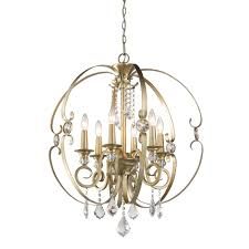 golden lighting chandelier. Golden Lighting 1323-6-WG Ella 6 Light Chandelier In White Gold D