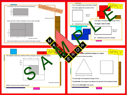 area perimeter exam revision bundle