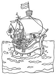 Kleurplaat Groot Piratenschip Kleurplatennl