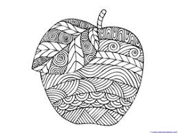 Apple Coloring Pages For Adults Or Kids 1111