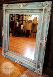 Framing A Large Mirror 25 Best Painted Mirror Frames Ideas On Pinterest Painting A