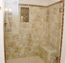 Plain Bathroom Remodel Tile Shower Custom Remodeling Project With Build In To Ideas