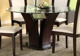 54 round glass dining table daisy round inch dining table 54 inch round glass dining table