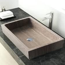 vessel bathroom sink stone rectangular vanity faucet vanities sinks home depot elecwish installation