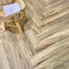 ash blonde wood effect wall and floor